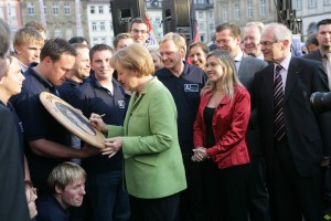 Bundeskanzlerin Dr. Angela Merkel in Bamberg